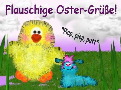 Flauschige Ostergrüße!